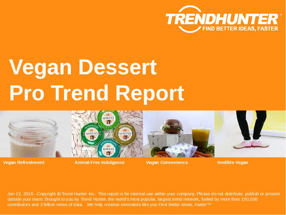 Vegan Dessert Trend Report Research