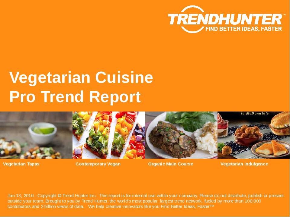 Vegetarian Cuisine Trend Report Research