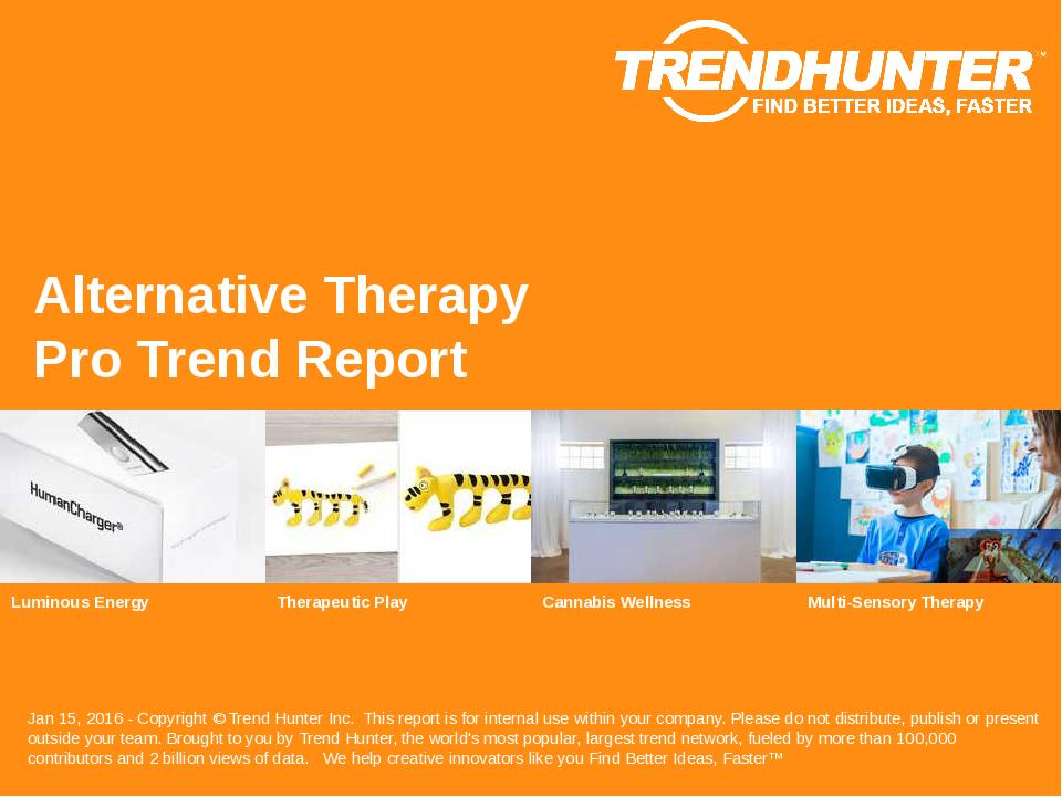 Alternative Therapy Trend Report Research
