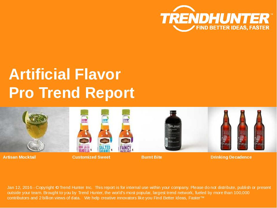 Artificial Flavor Trend Report Research