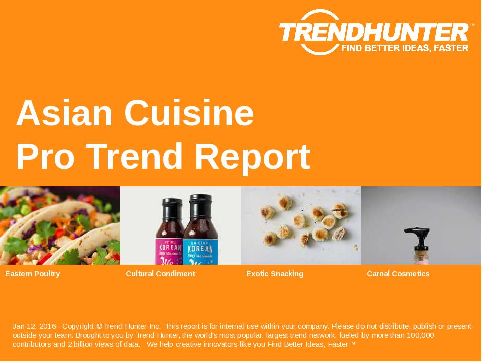 Asian Cuisine Trend Report Research