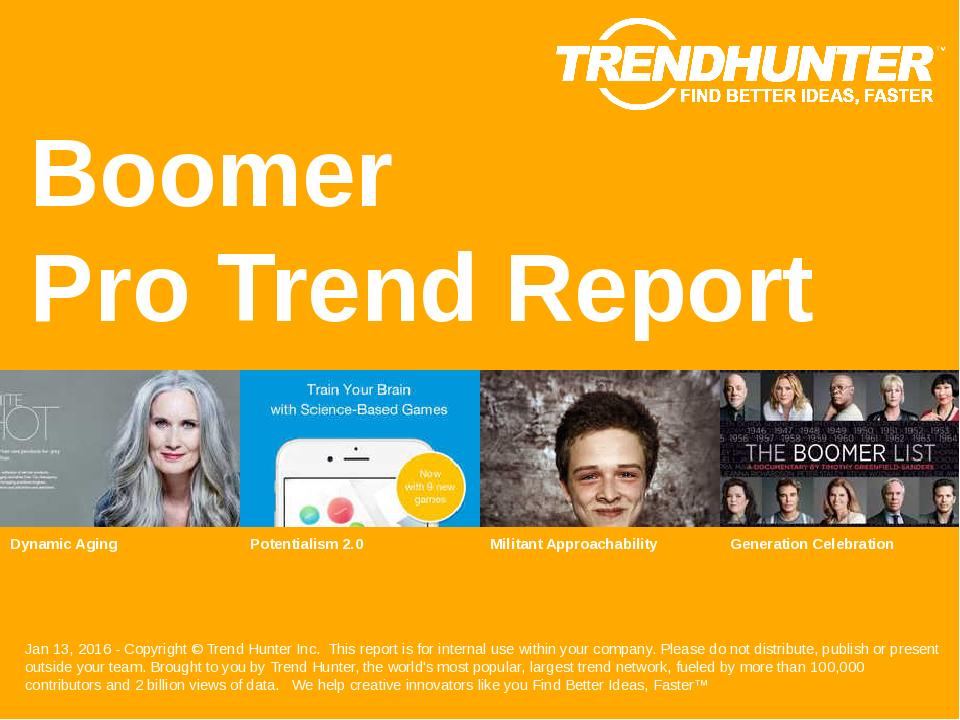 Boomer Trend Report Research