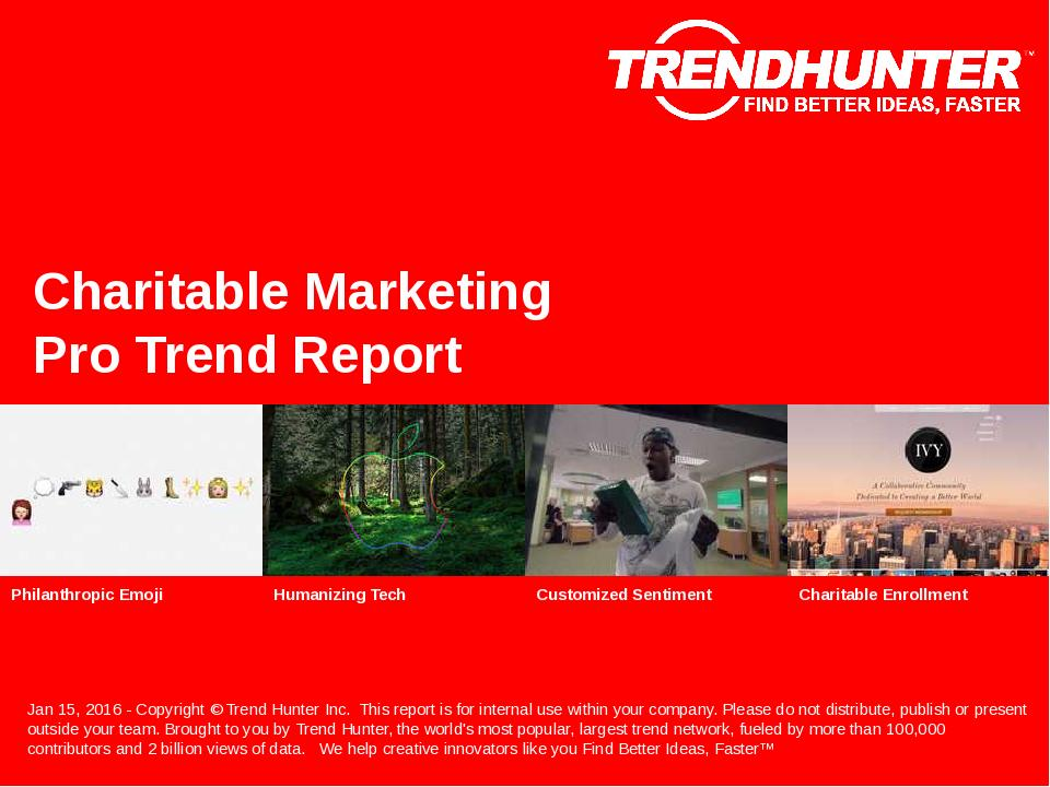 Charitable Marketing Trend Report Research