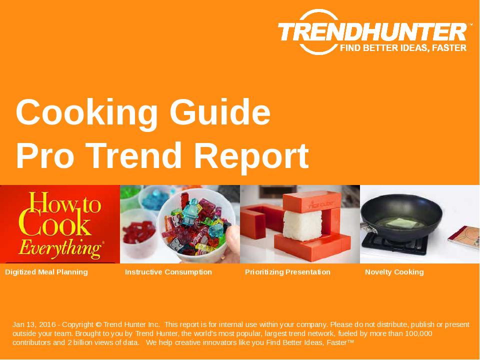 Cooking Guide Trend Report Research