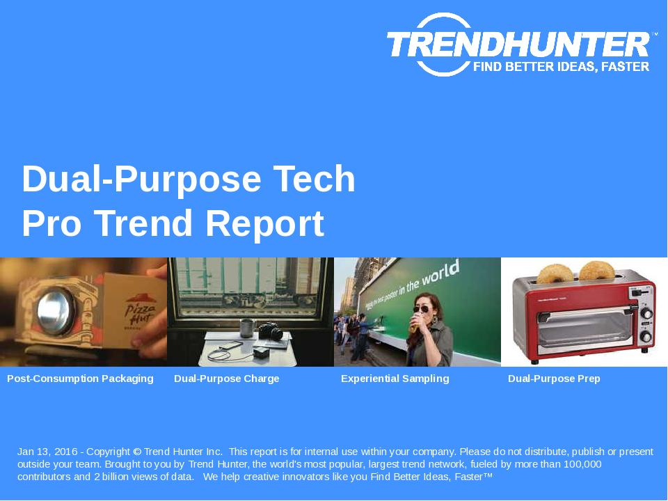 Dual-Purpose Tech Trend Report Research