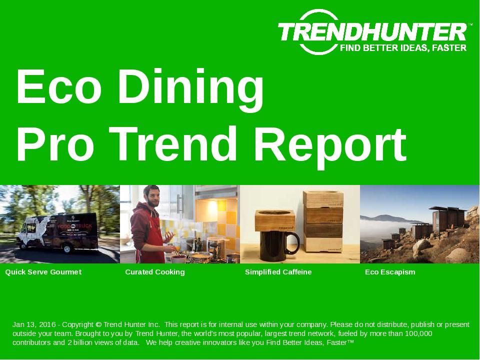 Eco Dining Trend Report Research