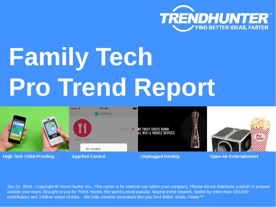 Family Tech Trend Report Research