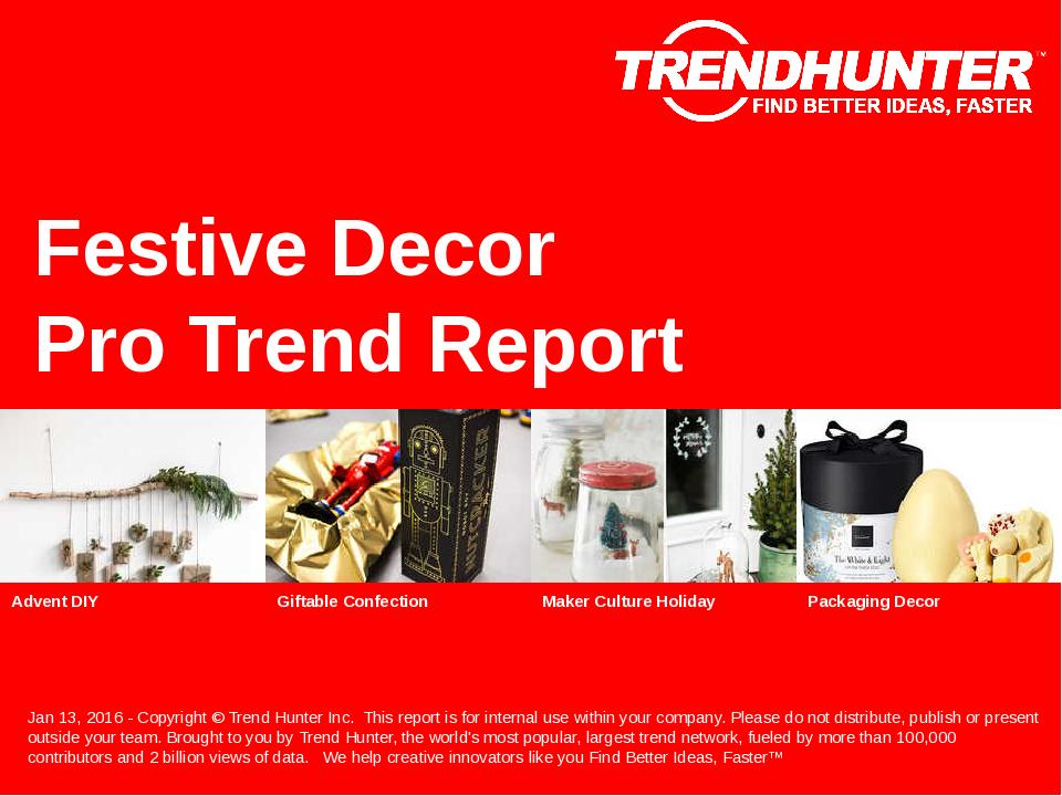 Festive Decor Trend Report Research