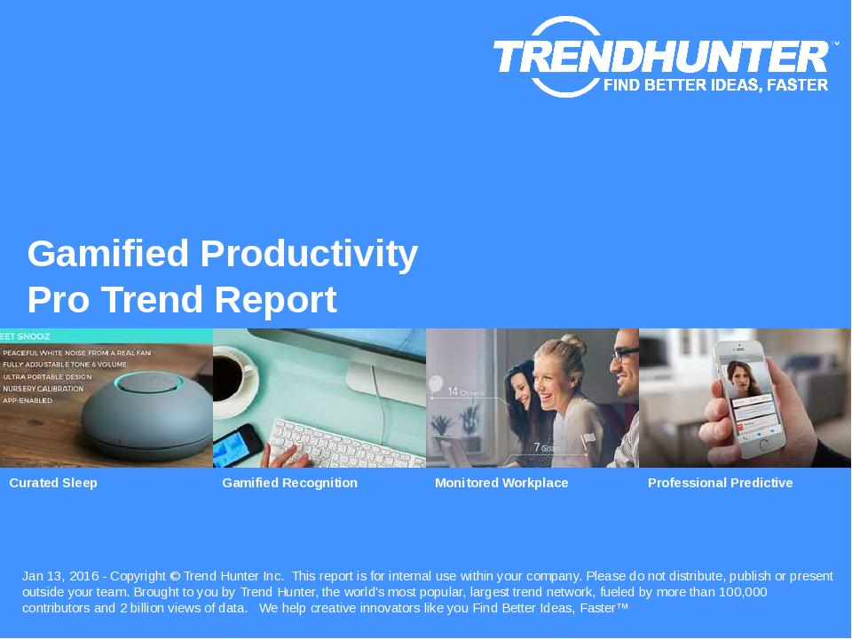 Gamified Productivity Trend Report Research