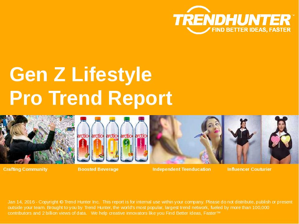 Gen Z Lifestyle Trend Report Research