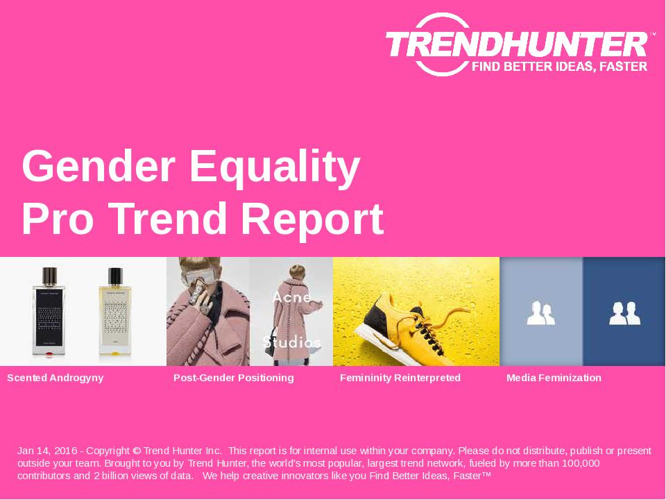 Gender Equality Trend Report Research
