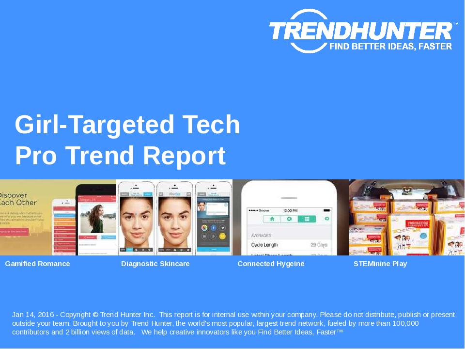Girl-Targeted Tech Trend Report Research