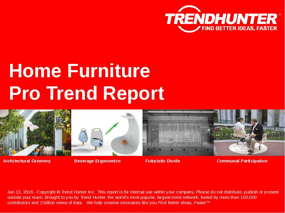 Home Furniture Trend Report Research