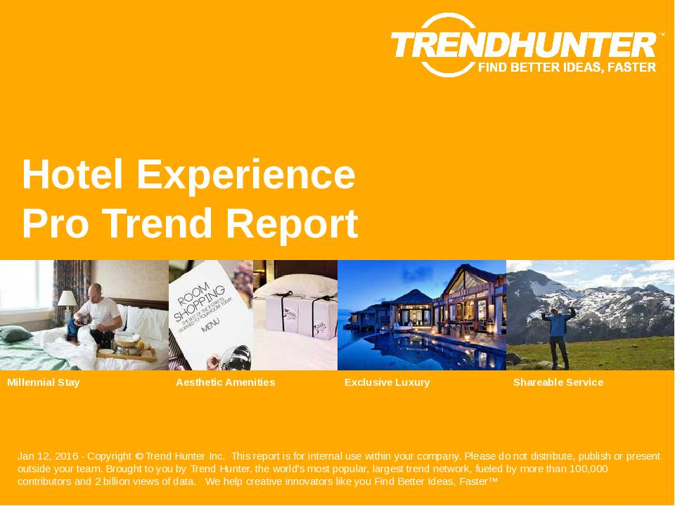Hotel Experience Trend Report Research
