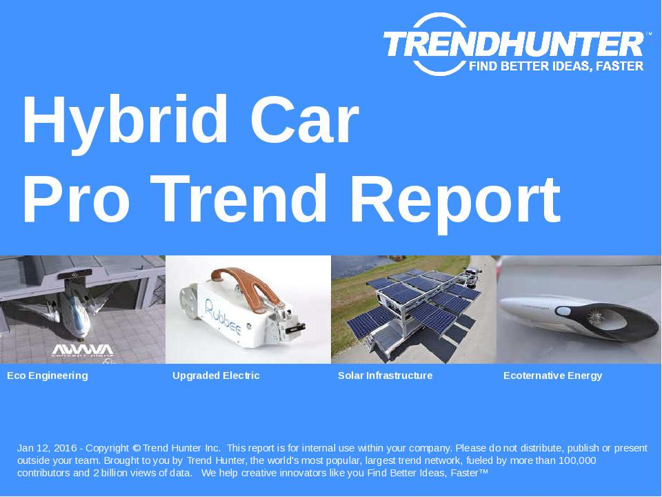 Hybrid Car Trend Report Research