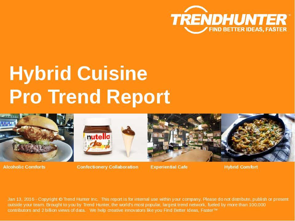Hybrid Cuisine Trend Report Research