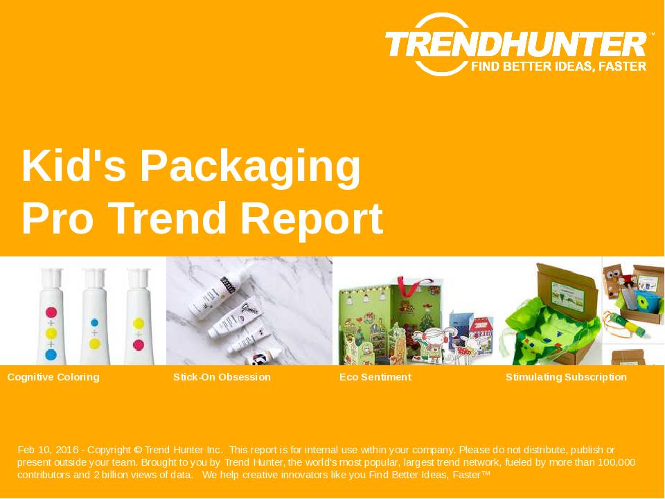 Kids Packaging Trend Report Research