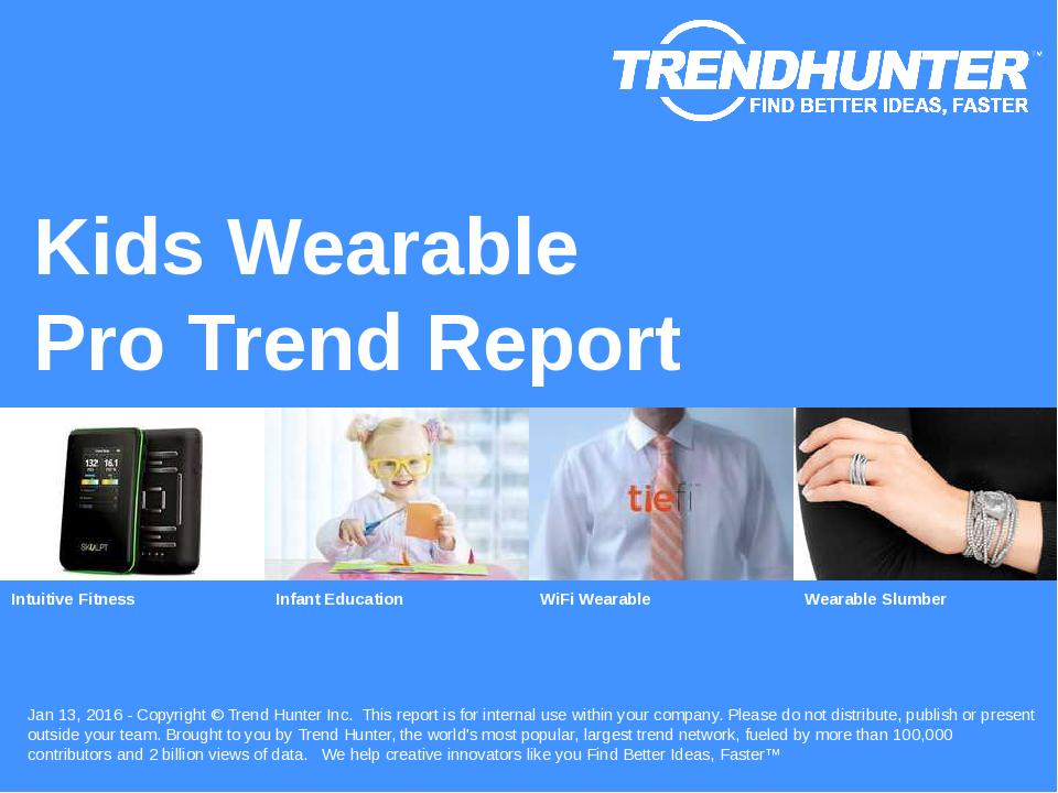 Kids Wearable Trend Report Research