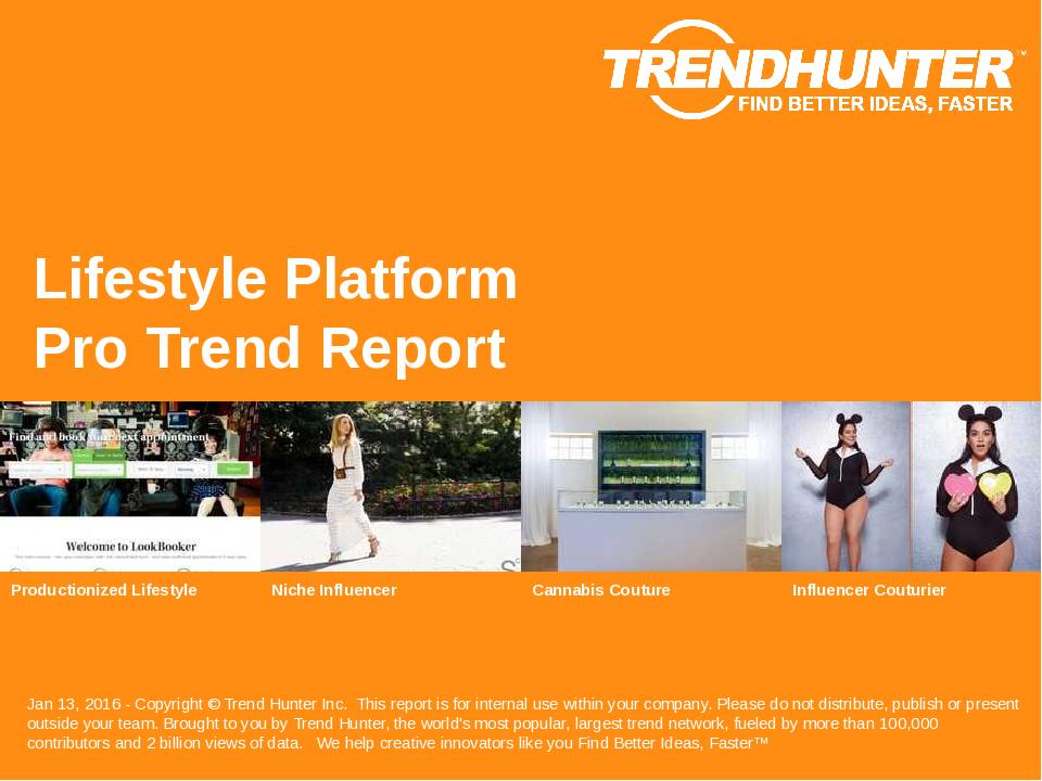 Lifestyle Platform Trend Report Research