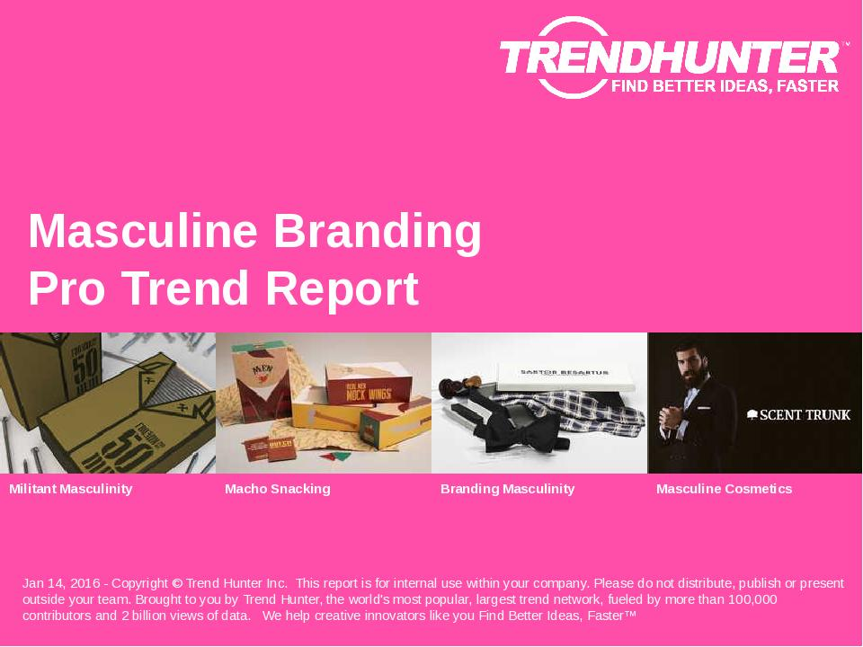 Masculine Branding Trend Report Research