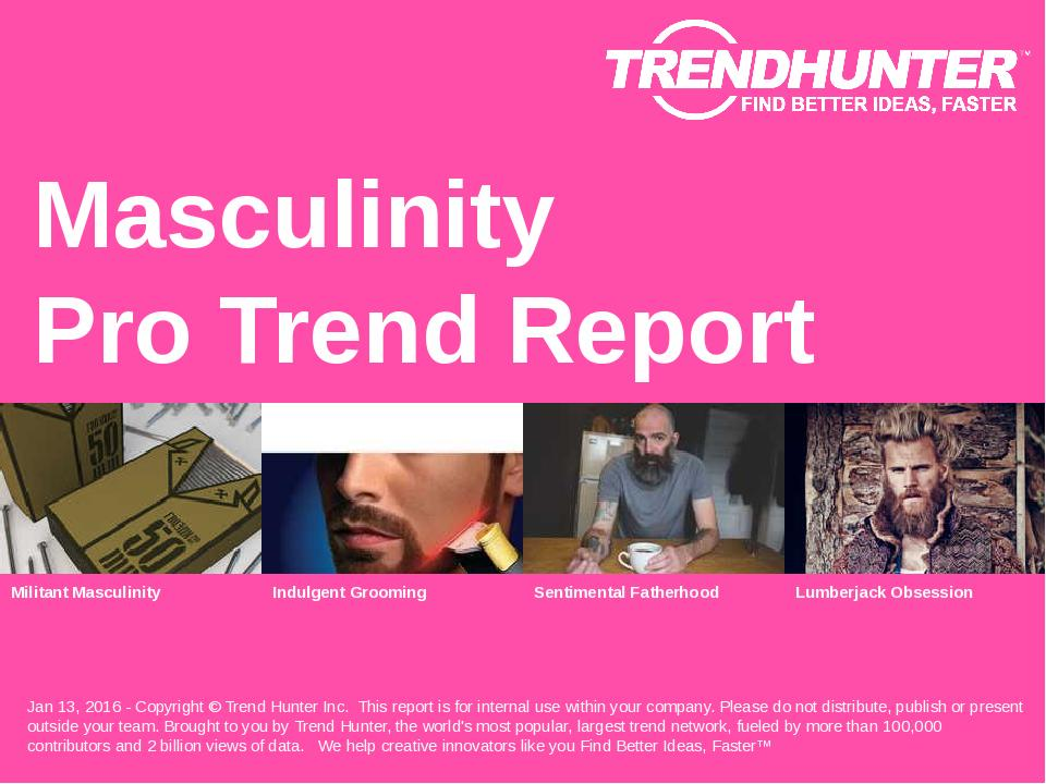 Masculinity Trend Report Research