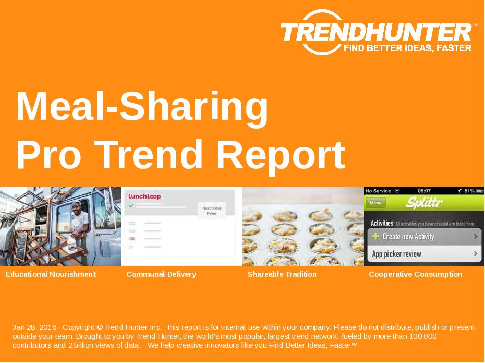 Meal Sharing Trend Report Research