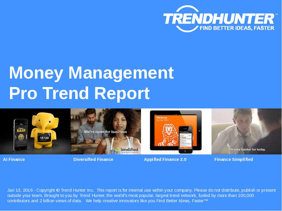 Money Management Trend Report Research