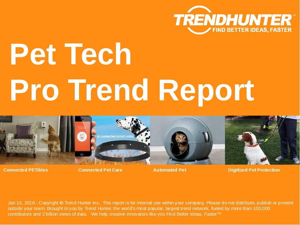 Pet Tech Trend Report Research
