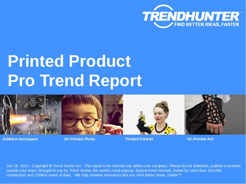 Printed Product Trend Report Research