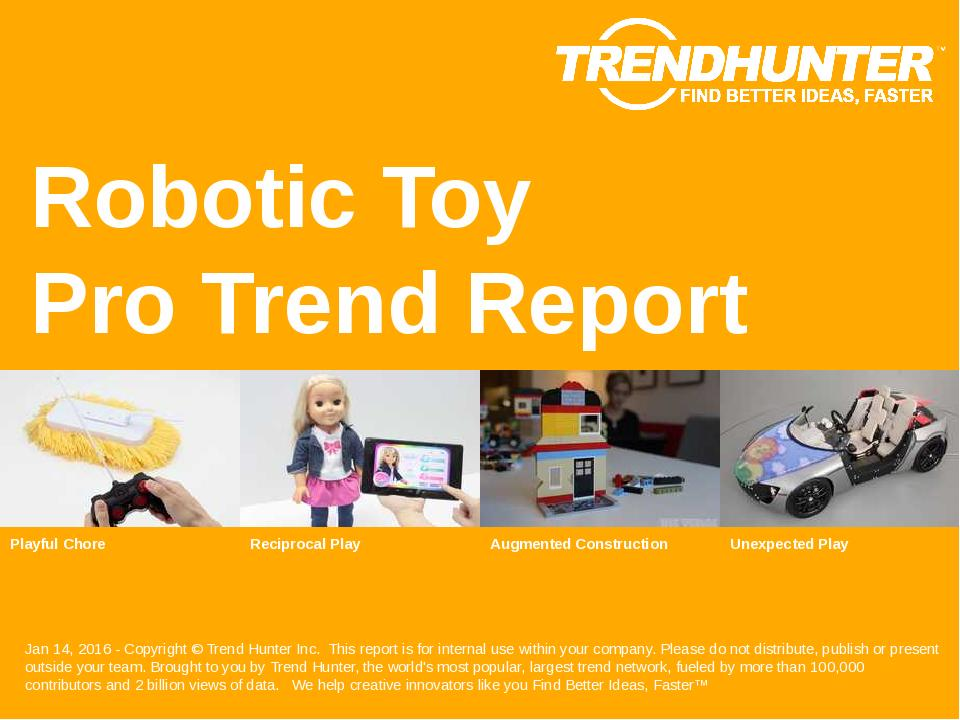 Robotic Toy Trend Report Research