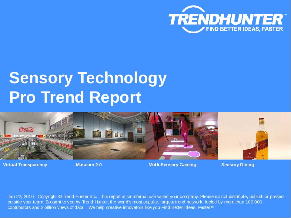 Sensory Technology Trend Report Research