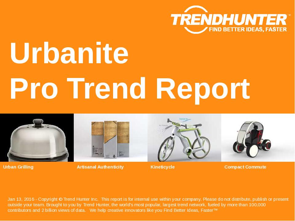Urbanite Trend Report Research