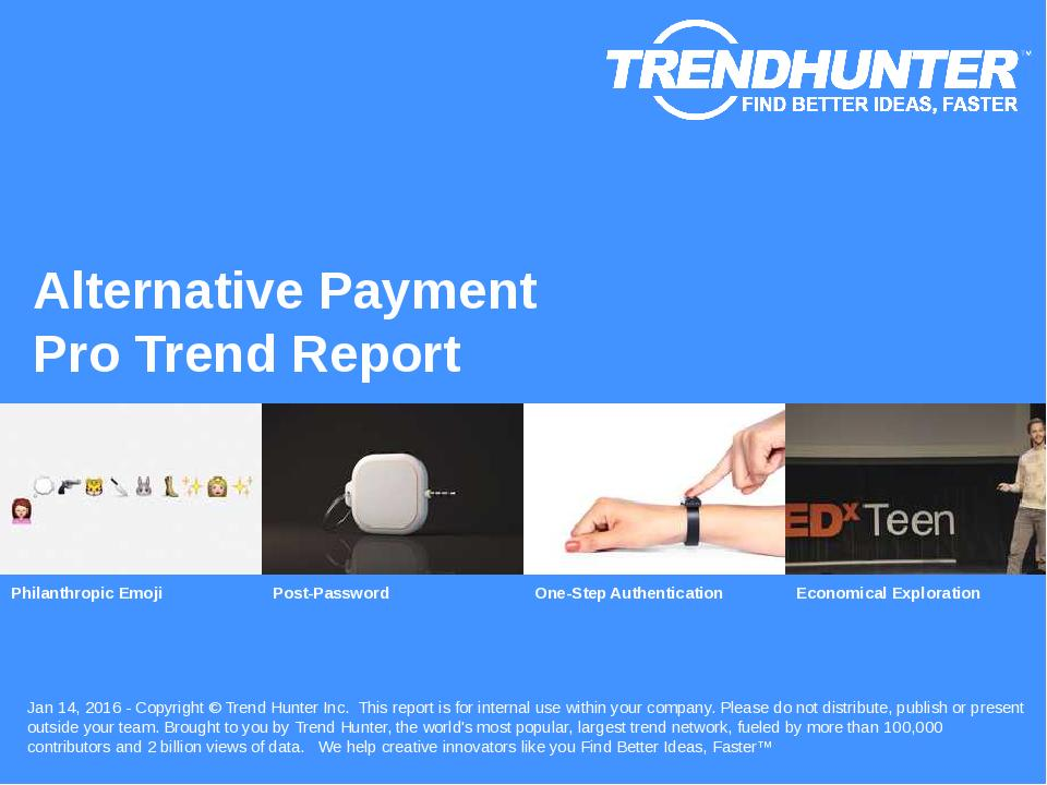 Alternative Payment Trend Report Research