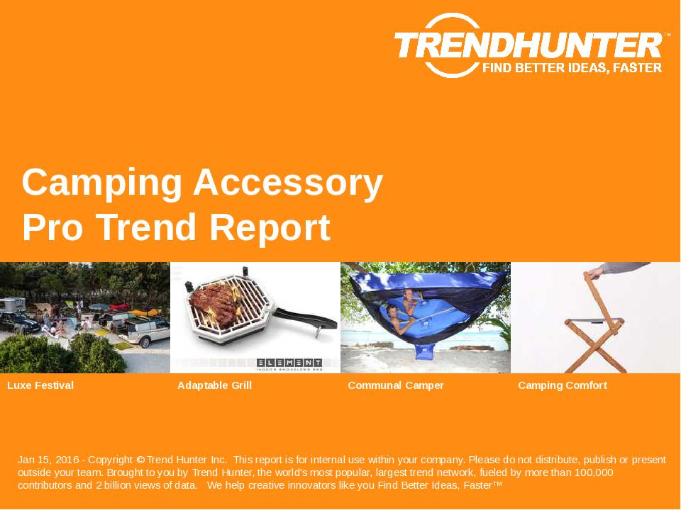 Camping Accessory Trend Report Research