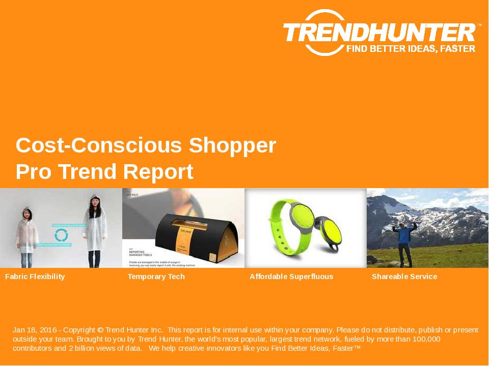 Cost-Conscious Shopper Trend Report Research