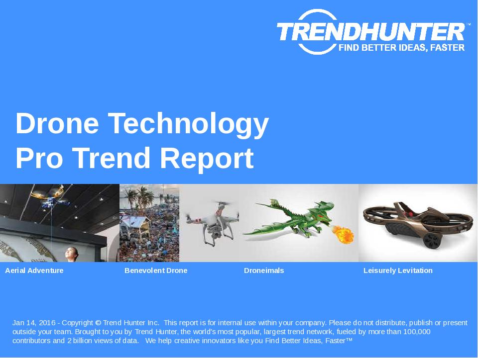 Drone Technology Trend Report Research