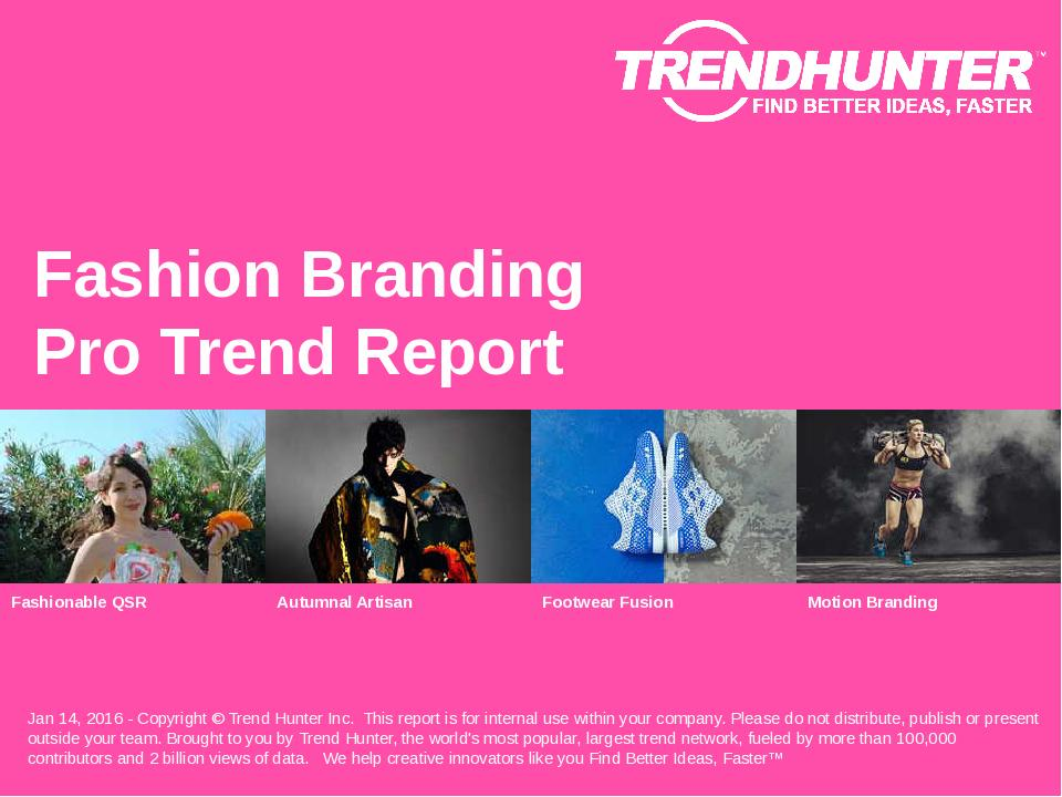 Fashion Branding Trend Report Research