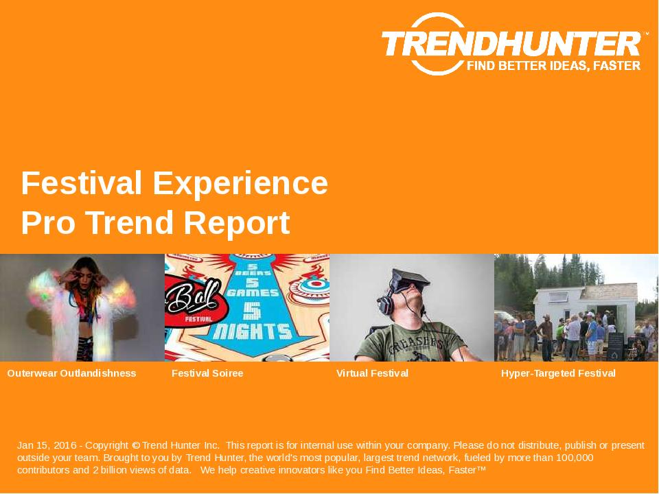 Festival Experience Trend Report Research