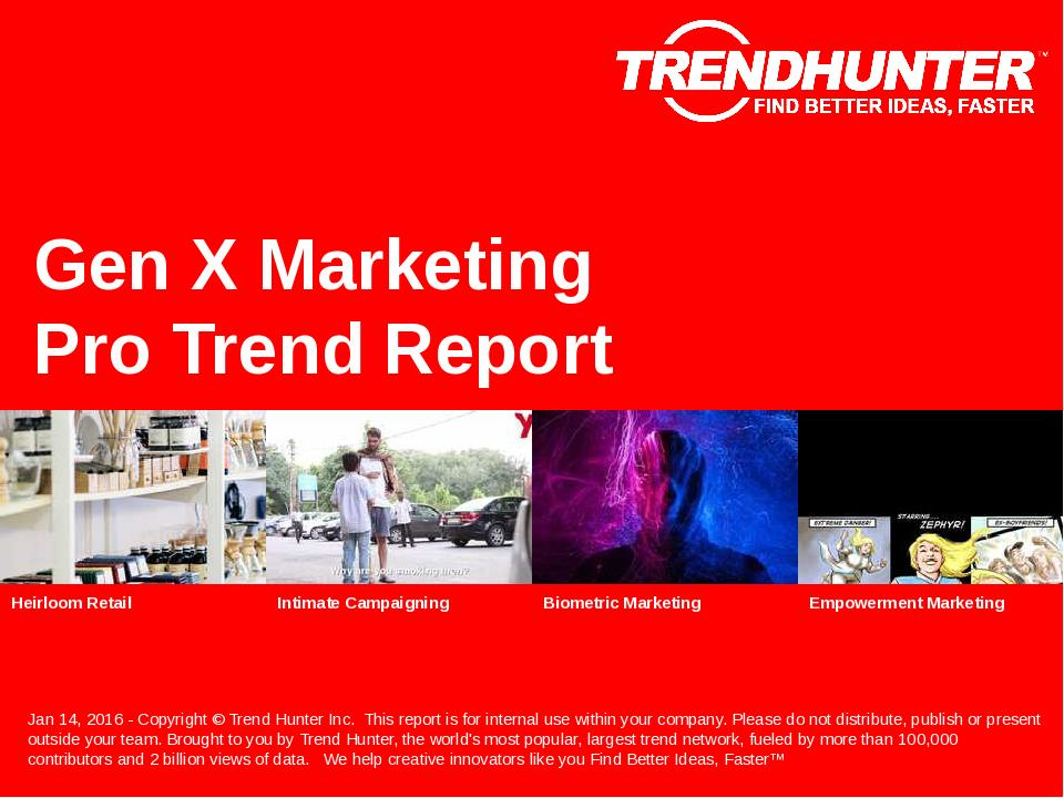 Gen X Marketing Trend Report Research