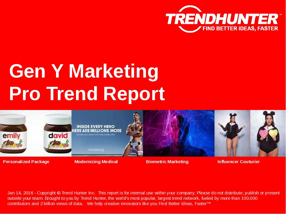 Gen Y Marketing Trend Report Research