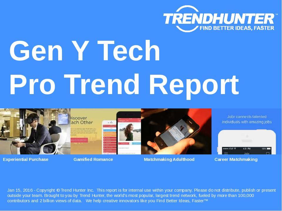 Gen Y Tech Trend Report Research