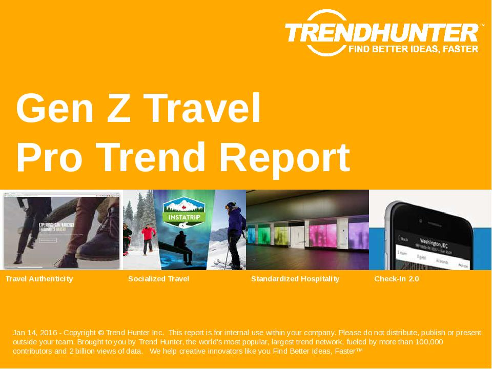 Gen Z Travel Trend Report Research