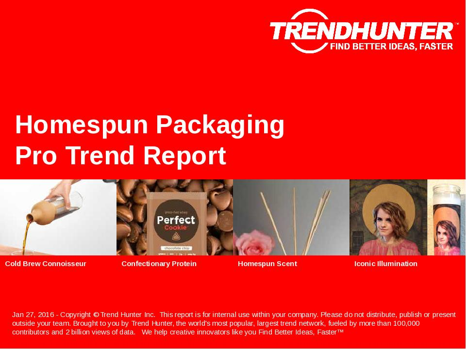 Homespun Packaging Trend Report Research