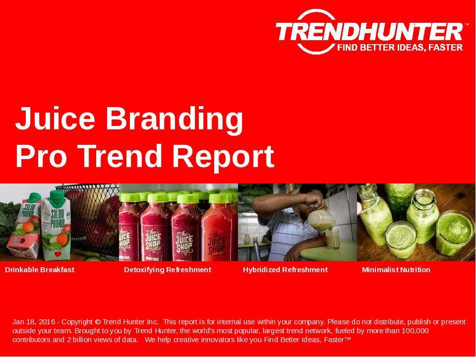 Juice Branding Trend Report Research
