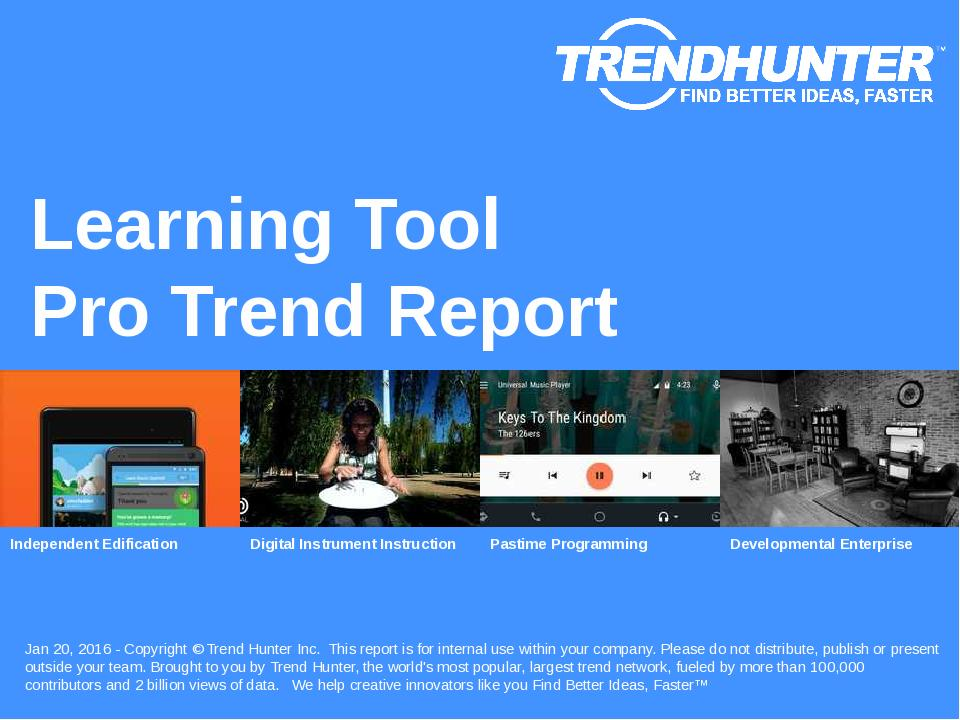 Learning Tool Trend Report Research