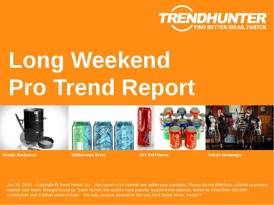 Long Weekend Trend Report Research