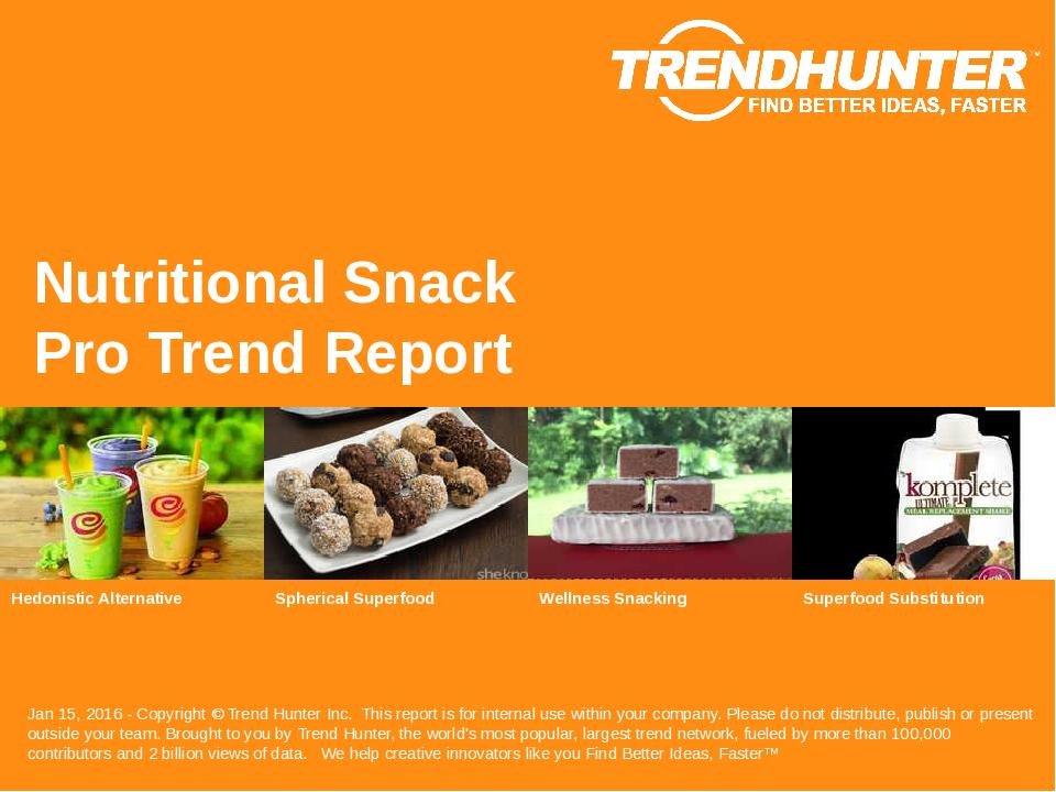 Nutritional Snack Trend Report Research