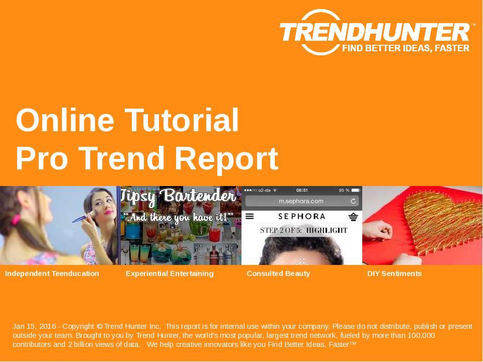 Online Tutorial Trend Report Research