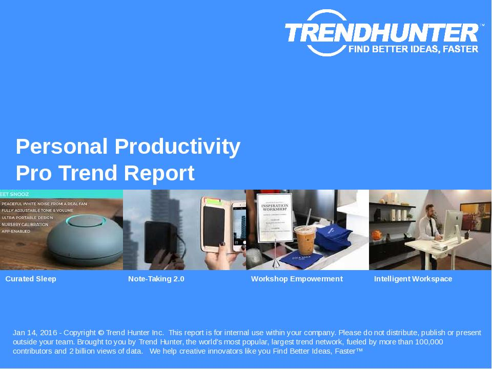 Personal Productivity Trend Report Research