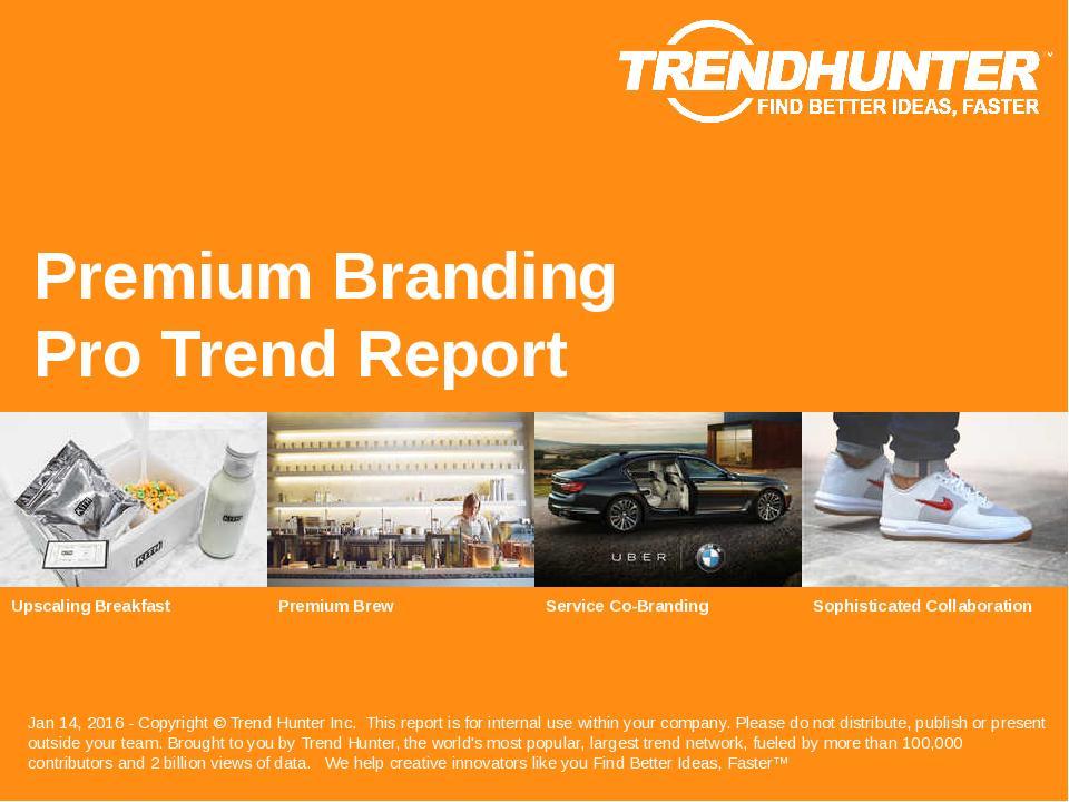Premium Branding Trend Report Research